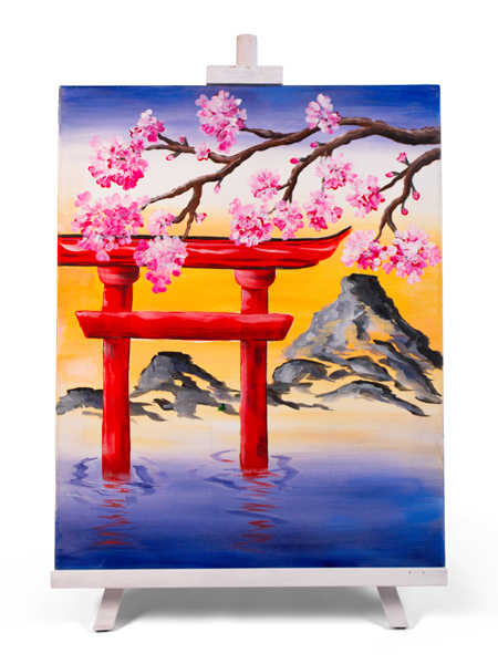 Fuji Torii - painting by Cork & Chroma