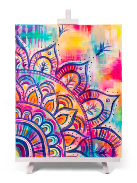 Mandala Magic - painting by Cork & Chroma