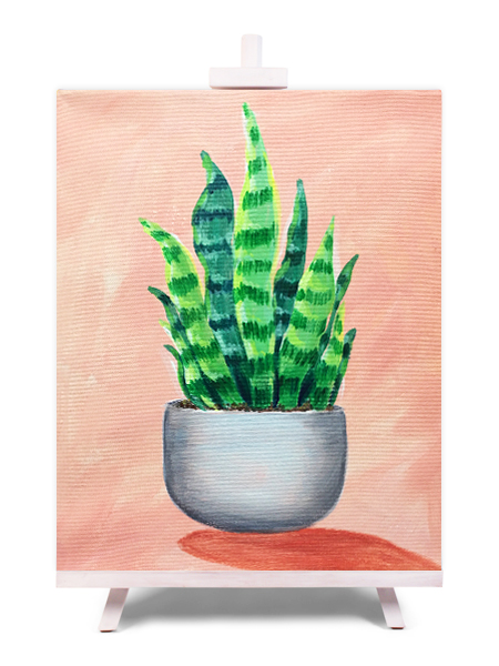 Petite Plants - painting by Cork & Chroma