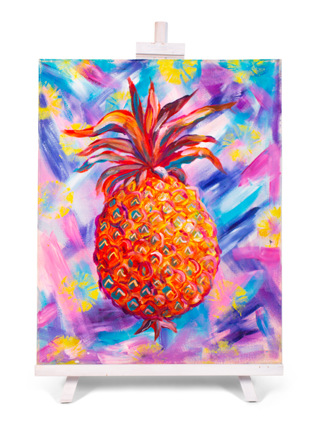 Pineapple - painting by Cork & Chroma