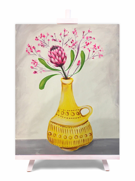 Protea For One - painting by Cork & Chroma