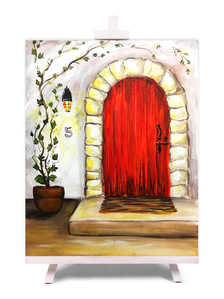 Red Door - painting by Cork & Chroma