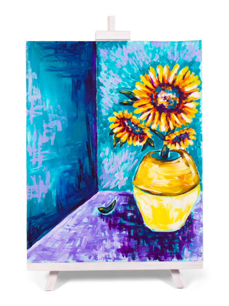 Sunflowers - painting by Cork & Chroma