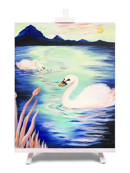 Swanning Around - painting by Cork & Chroma