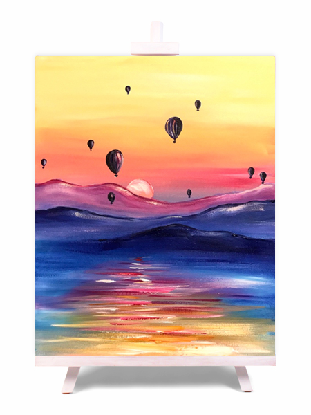 Up, Up & Away - painting by Cork & Chroma
