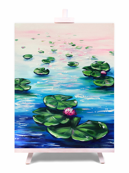 Waterlilies - painting by Cork & Chroma