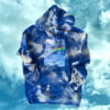 Bee Free Hoodie (blue) by Hillary Wall
