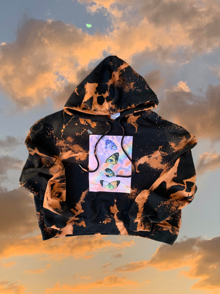 Butterflye Contact cropped hoodie by Hillary Wall