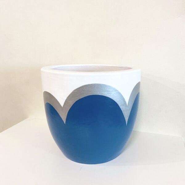 Blue Silver Petal
